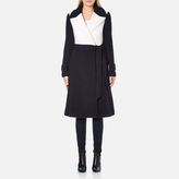 Diane von Furstenberg Women's Kayden Coat Midnight/Canvas