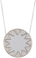 House Of Harlow Embellished Sunburst Round Pendant Necklace