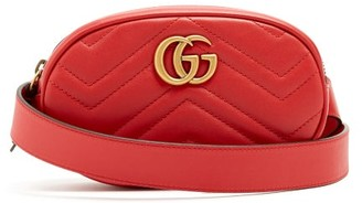 Gucci GG Marmont Quilted-leather Belt Bag - Womens - Red