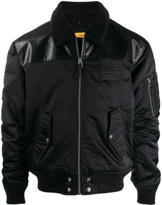 Diesel zipped sleeve bomber jacket