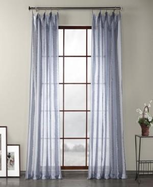 "Exclusive Fabrics & Furnishings Exclusive Fabrics Furnishings Patterned Linen Sheer Curtain 108"" x 50"" Curtain Panel"