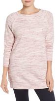 Caslon Space Dye Tunic Sweatshirt (Petite)