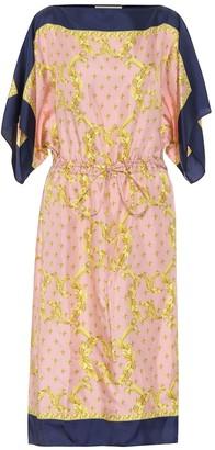Gucci Printed silk-twill midi dress