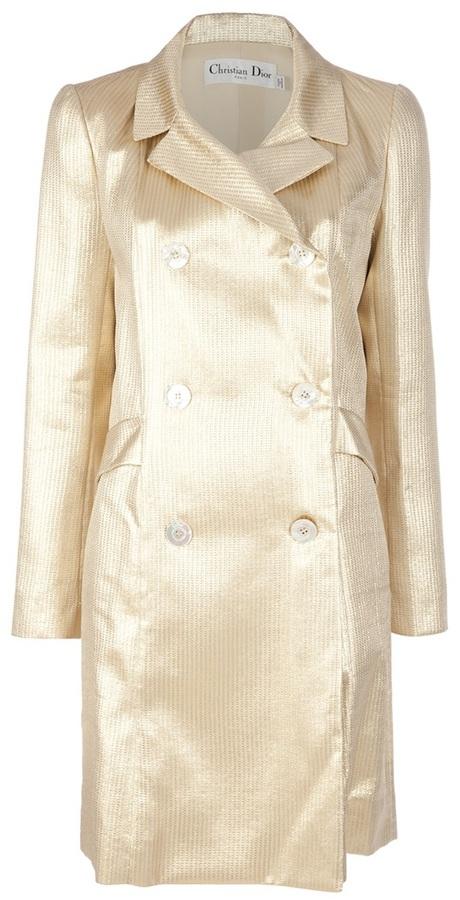 Christian Dior golden trench coat