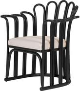 David Francis Furniture Calla Armchair Finish: Black