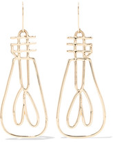 Alison Lou + Hasbro Electricity 14-karat Gold Earrings - one size