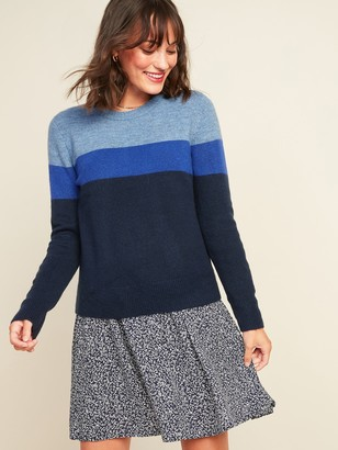 Old Navy Cozy Color-Blocked Crew-Neck Sweater for Women