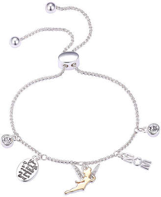 DISNEY CLASSICS Pure Silver Over Brass 9 3/4 Inch Solid Tinker Bell Bangle Bracelet