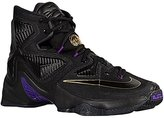 Nike lebron XIII mens hi top basketball trainers 807219 sneakers shoes (US 10, black metallic gold hyper grape 007)