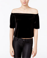 Bar III Off-The-Shoulder Velvet Top, Only at Macy's