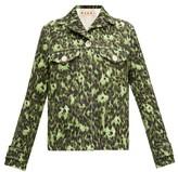 Marni Floral-print Cotton Cloque Jacket - Womens - Green Multi