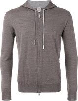 Eleventy zip up hoodie - men - Silk/Merino - M