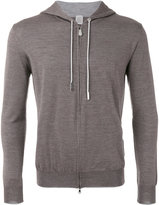 Eleventy zip up hoodie - men - Silk/Merino - XL