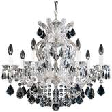 Schonbek Maria Theresa 7-Light Chandelier in Silver Leaf With Clear Heritage Crystal