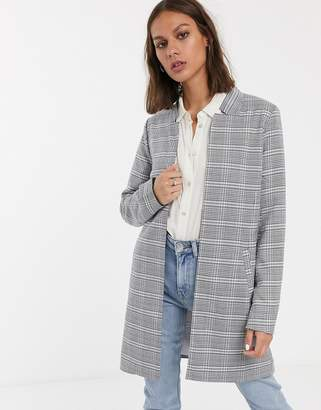 Only Rosaria check jacket-Grey