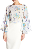 Gracia Wide Bell Sleeve Embroidered Shirt