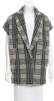 Alice + Olivia Plaid Wool Sleeveless Blazer