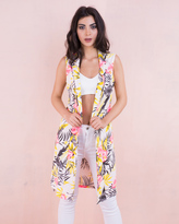 Missy Empire Katya Cream Tropical Floral Print Waistcoat