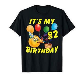 Funny Emoji Shirt It's My 82nd Birthday 82 Years Old
