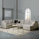 "Henry® 4-Piece Chaise Sectional (160""w) - Gravel (Twill)"
