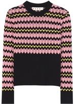 Marni Open-knit wool-blend sweater