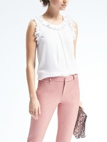 Banana Republic Ruffle Overlay Top