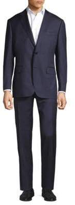 Canali Water Resistant Stripe Suit
