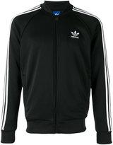 adidas logo print track jacket