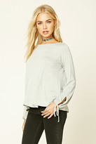 Forever 21 FOREVER 21+ Heathered Self-Tie Top