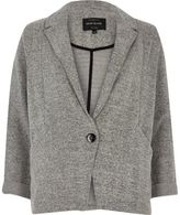 Grey Jersey Blazer Women - ShopStyle UK