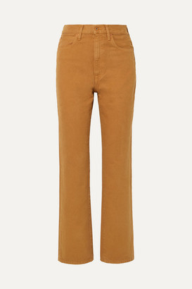 Slvrlake SLVRLAKE - London High-rise Straight-leg Jeans - Tan