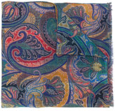 Etro paisley checked scarf - men - Silk/Cashmere - One Size