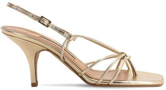 Emme Parsons 75mm Adele Metallic Leather Thong Sandal