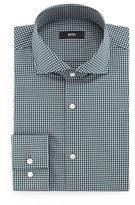 BOSS Jason Slim-Fit Mini-Gingham Dress Shirt, Green
