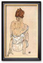 """Art.com Zittende Vrouw on the Rug"""" Framed Art Print by Egon Schiele"""