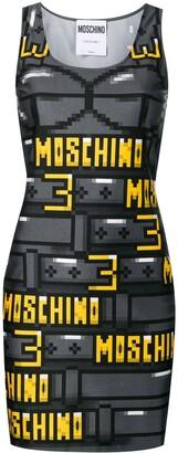 Moschino 8bit Printed Tube Dress