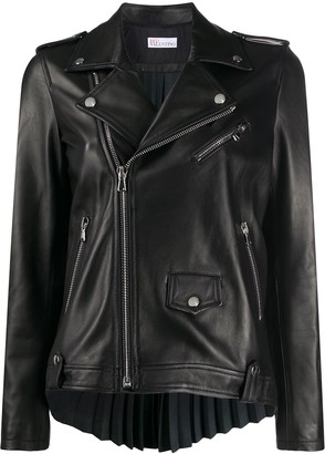 RED Valentino Pleated Back Leather Jacket