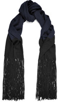 Sandro Fringed-Trimmed Wool-Blend Scarf