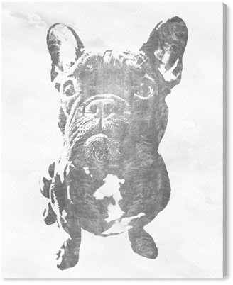 Oliver Gal Frenchie Silver By The Artist Co. Canvas Art