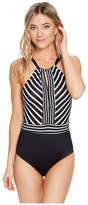 Jantzen Stripe Interrupted High Neck One-Piece Women's Swimsuits One Piece