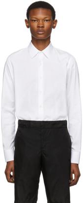 Prada White Embroidered Logo Shirt