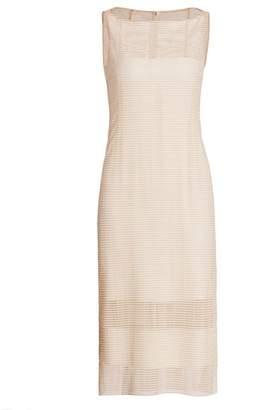 Akris Grid Illusion Sheath Dress