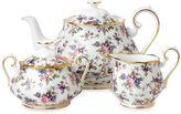 Royal Albert 100 Years 1940 English Chintz 3-Piece Tea Set