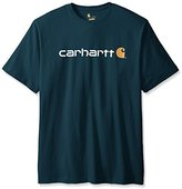 Carhartt Men's Big & Tall Signature Logo Short Sleeve Midweight Jersey Graphic