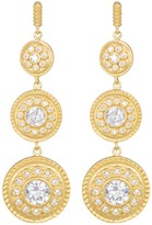 Freida Rothman 14K Gold Plated Sterling Silver CZ Nautical Multi-Drop Earrings