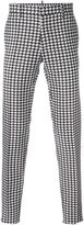 DSQUARED2 houndstooth trousers - men - Silk/Cotton/Polyester - 52