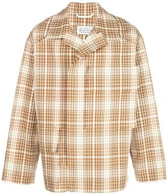 Maison Margiela plaid shirt jacket