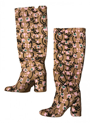 Marimekko Beige Cloth Boots