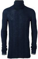 Lanvin Irregular Ribs Turtle Neck Sweater - men - Wool - S