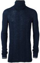 Lanvin Irregular Ribs Turtle Neck Sweater